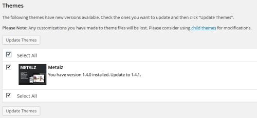 Theme Updates